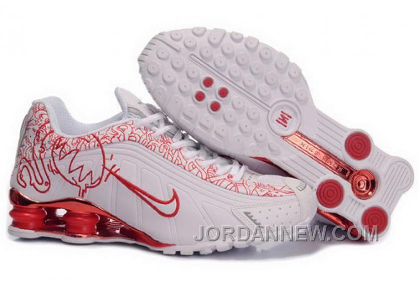 1ea6fe0af92e http   www.jordannew.com mens-nike-shox-r4-cartoon-shoes-white-red ...