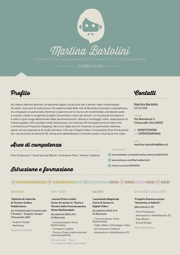 Love the header and the different approach with no white Creative - header for resume