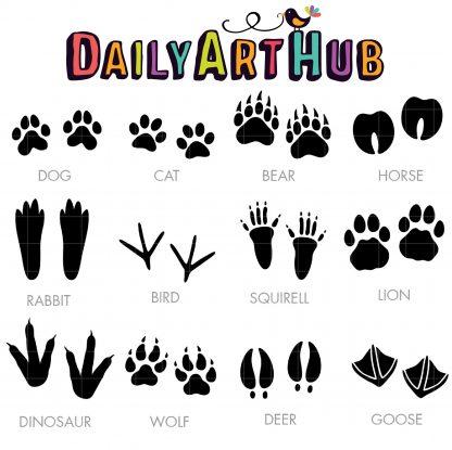 Animal Tracks Clip Art Set Daily Art Hub Free Clip Art Everyday Animal Tracks Clip Art Digital Clip Art