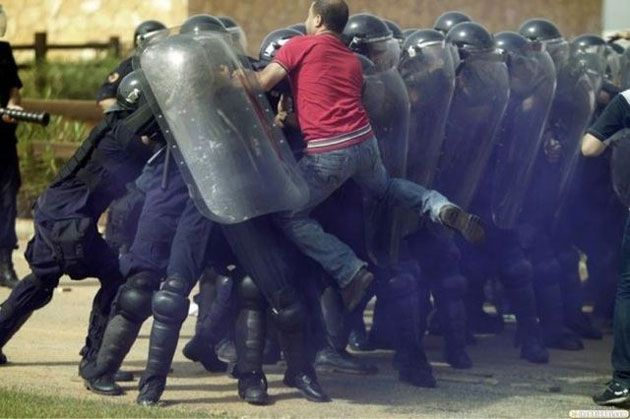 Photograph from the Egyptian uprising began in January 25th 2011.