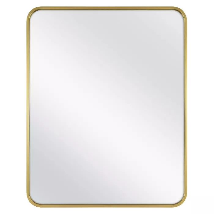 24 X 30 Rectangular Decorative Wall Mirror With Rounded Corners Brass Project 62 In 2020 Mirror Wall Decor Mirror Wall Wall Mirror Online