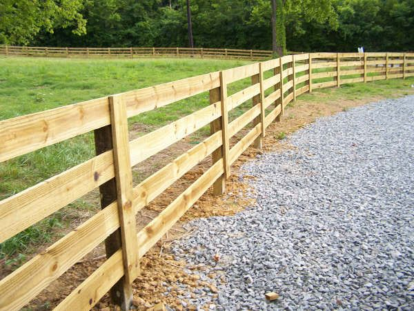 We Provide All Types Of Fence Including Wood Iron Pvc Farm Fencing