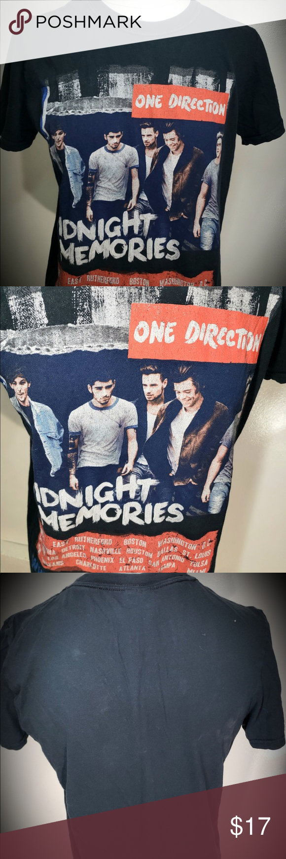 One Direction: 2014 Tour Shirt ONE DIRECTION 2014 Midnight Memories- Where We Are Tour Concert T-shirt. Pre-owned and overall good condition. Tops Tees - Short Sleeve #onedirection2014 One Direction: 2014 Tour Shirt ONE DIRECTION 2014 Midnight Memories- Where We Are Tour Concert T-shirt. Pre-owned and overall good condition. Tops Tees - Short Sleeve #onedirection2014