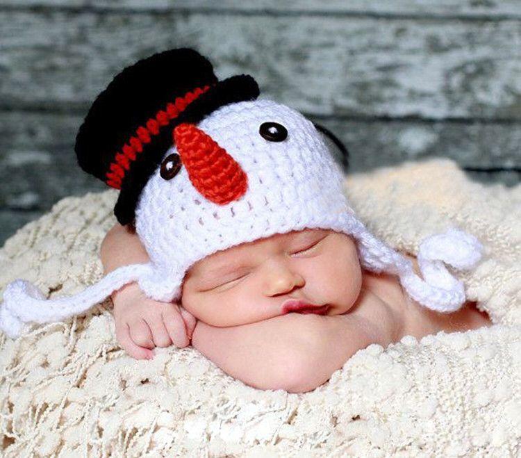 Últimas muñeco de nieve sombrero del ganchillo gorro Beanie tejido a ...