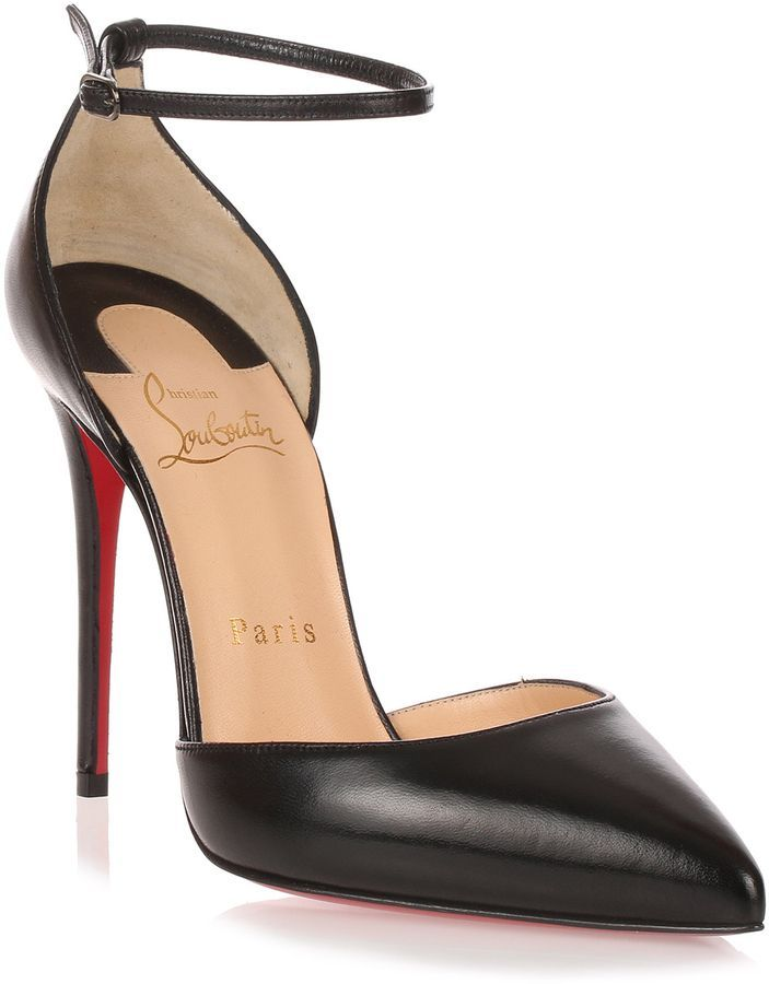 the latest 7de91 b77f8 Uptown 100 black leather pump in 2019 | Shoes | Louboutin ...
