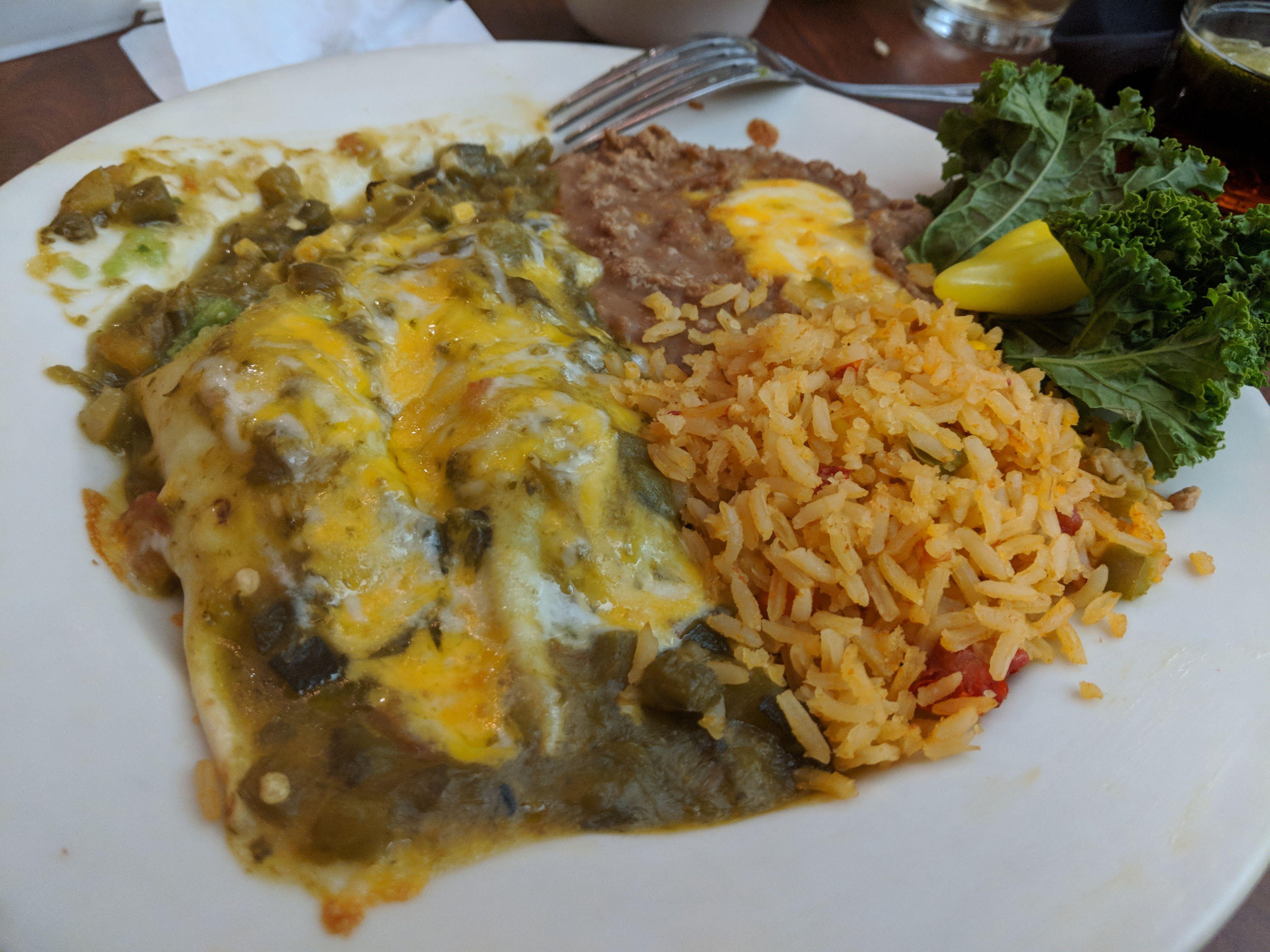 Avocado enchiladas abuelos mexican restaurant in