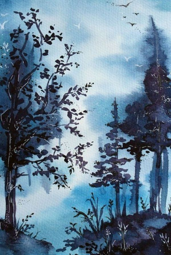 40 Easy Watercolor Landscape Painting Ideas For Beginners Feminatalk In 2020 Watercolor Landscape Paintings Watercolor Scenery Nature Watercolor