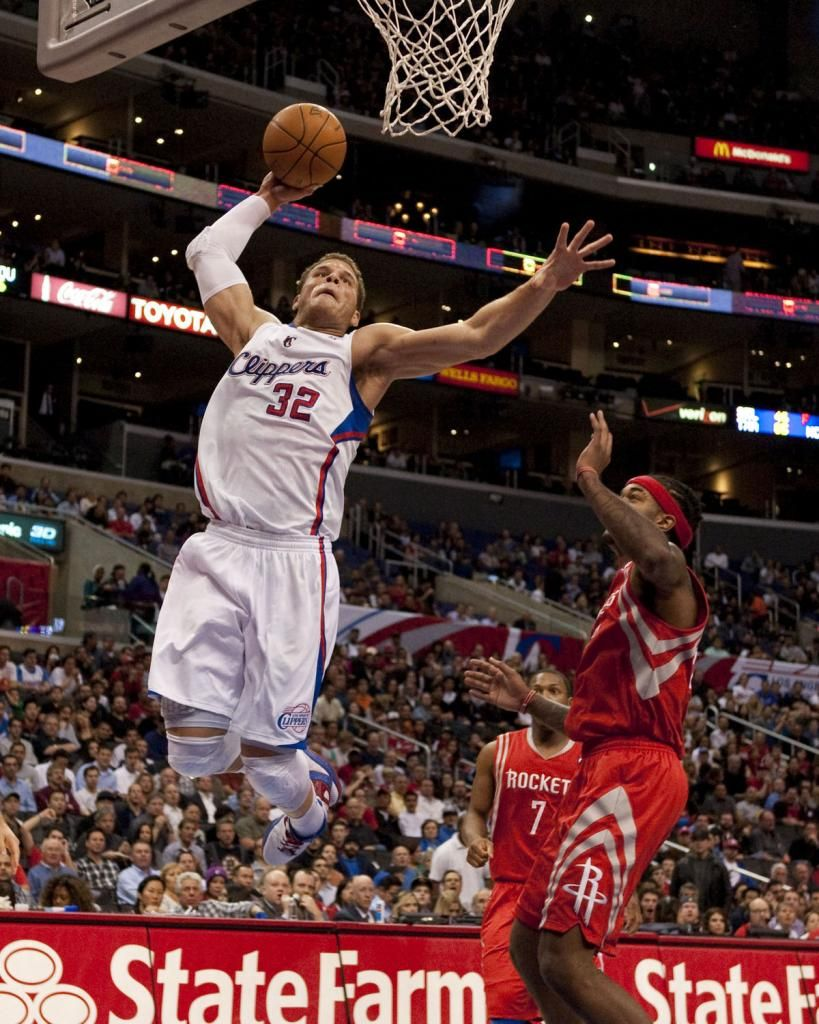 Los Angeles Clippers Blake Griffin Dunks Over Houston Rockets
