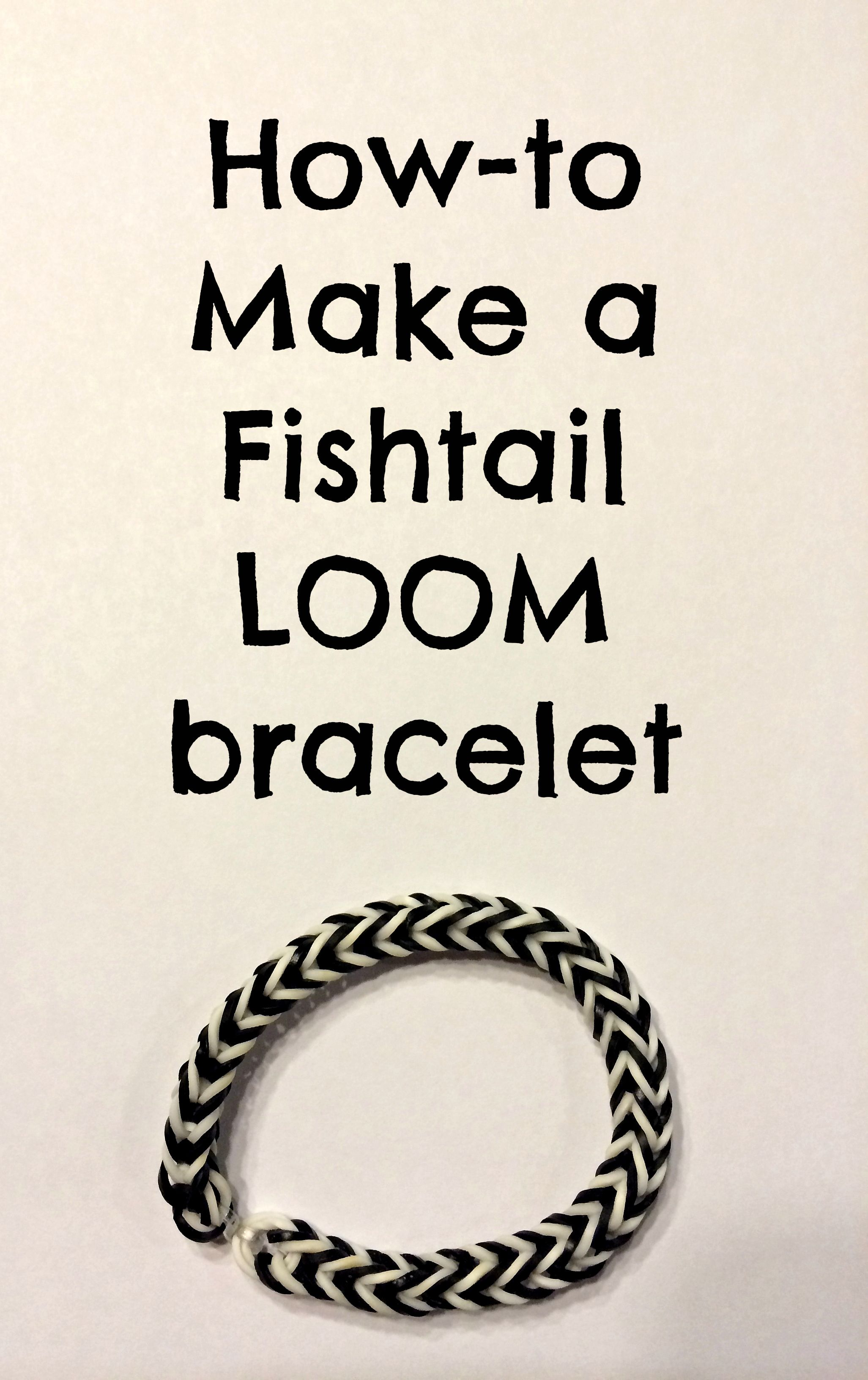How to make a Fishtail Bracelet- Step by Step Photo Instructions