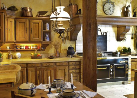 Cocina rural de madera cortijos pinterest rurales - Como decorar una bodega rustica ...