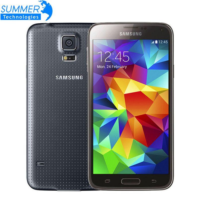 Original Unlocked Samsung Galaxy S5 I9600 Cell Phones 5 1 Super Amoled Quad Core 16gb Rom Nfc Refurbished Mobile Phone Samsung Galaxy S5 Samsung Boost Mobile