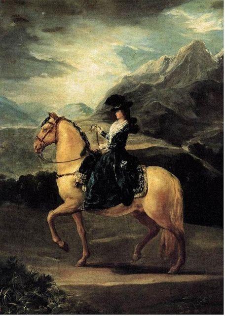 Equestrian portrait of María Teresa de Vallabriga, 1783, by Francisco de Goya (1746-1826)