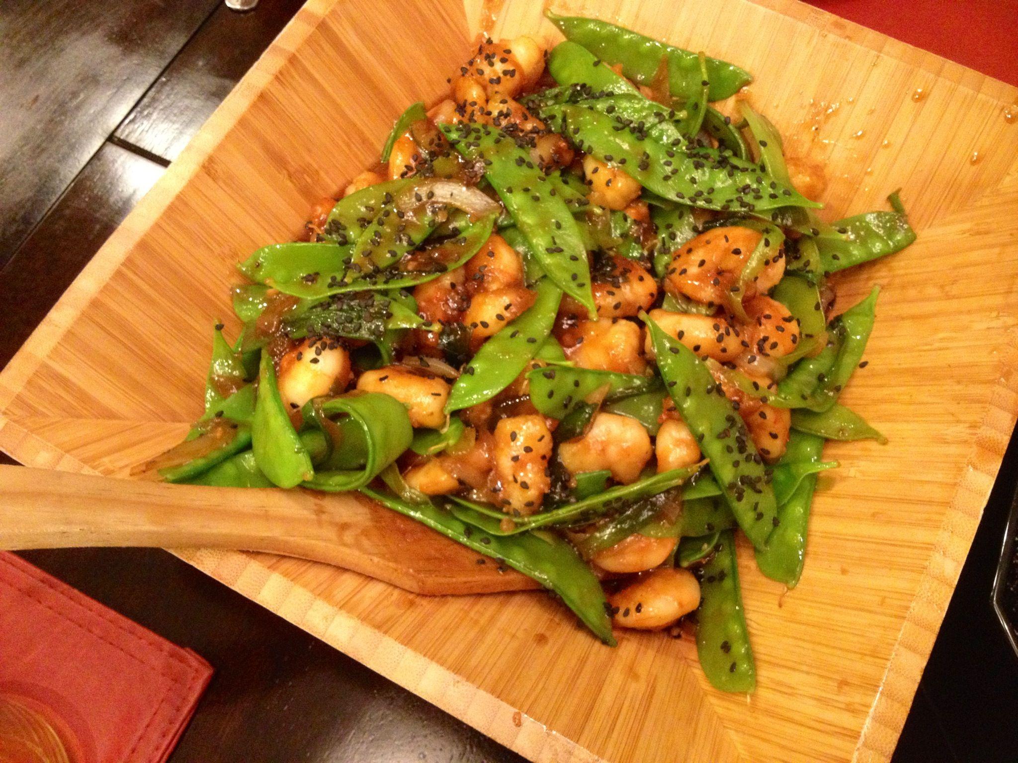 "Got the recipe from Google Mongolian Shrimp ""P.F. Changs"