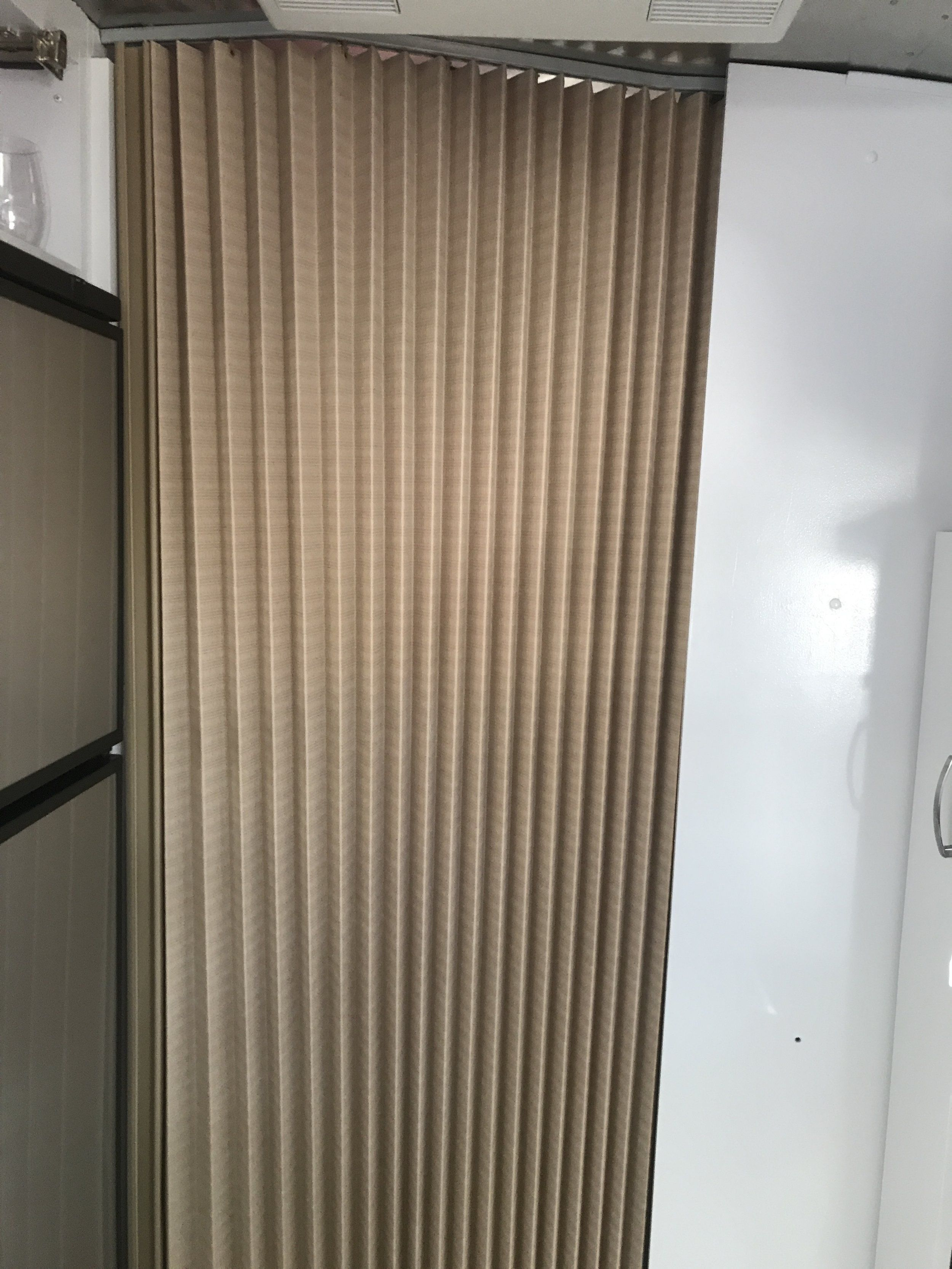 Replacing Our Accordion Screen With A Curtain In 2020 Airstream