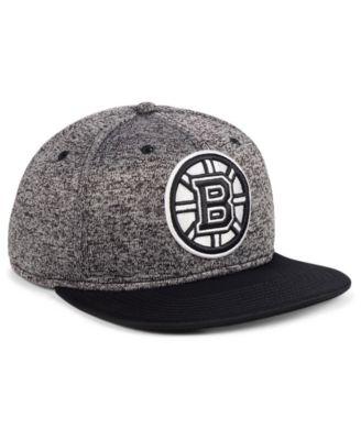 cb19539bde0 Authentic Nhl Headwear Boston Bruins Emblem Snapback Cap - Black Adjustable