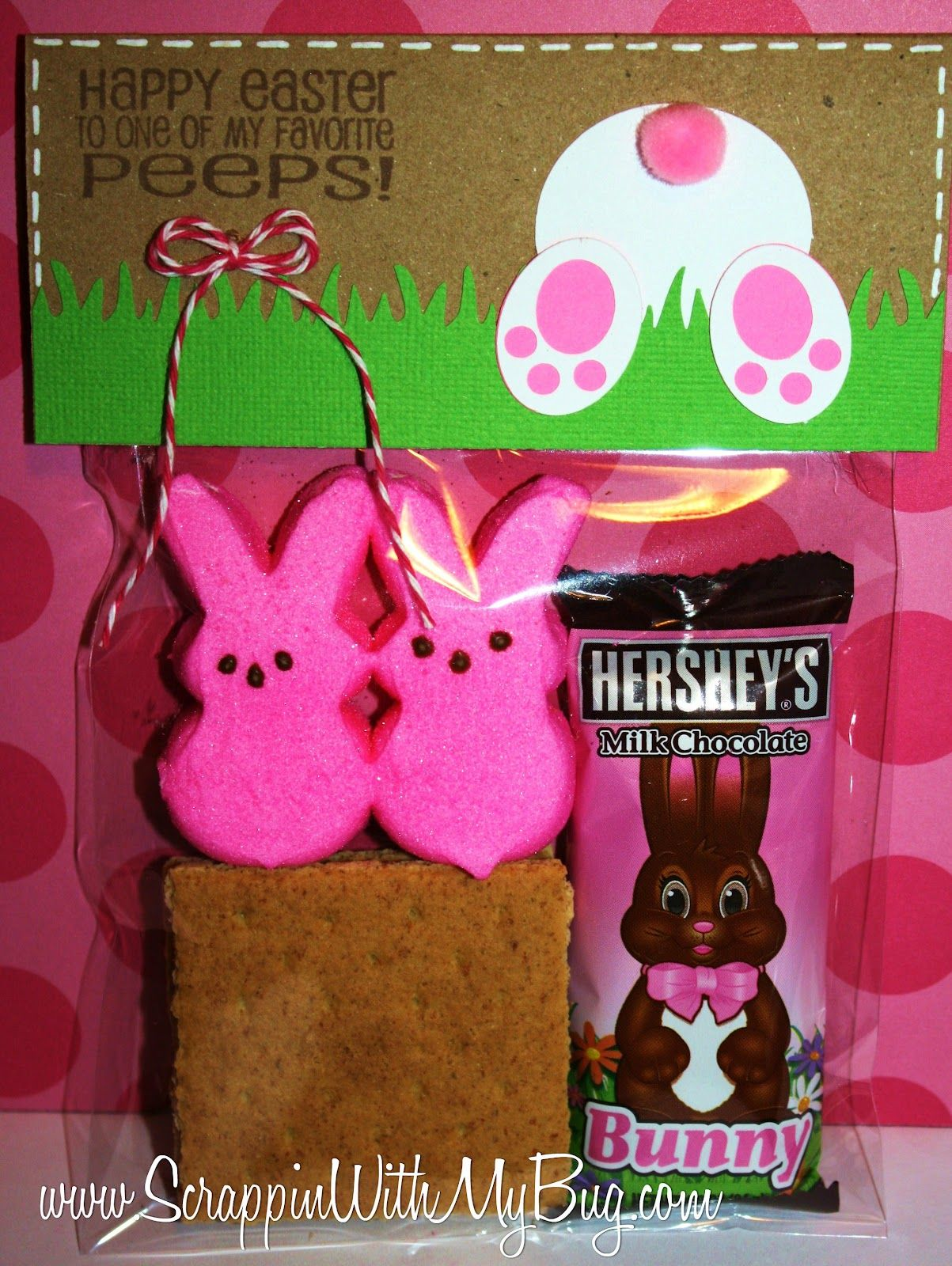 Easter smore treatsch a cute idea for party favors or school perhaps the cutest easter craft ever on the planet sherry you use your peep diecuts make one sample then sell bag tppers would fill the balls negle Images