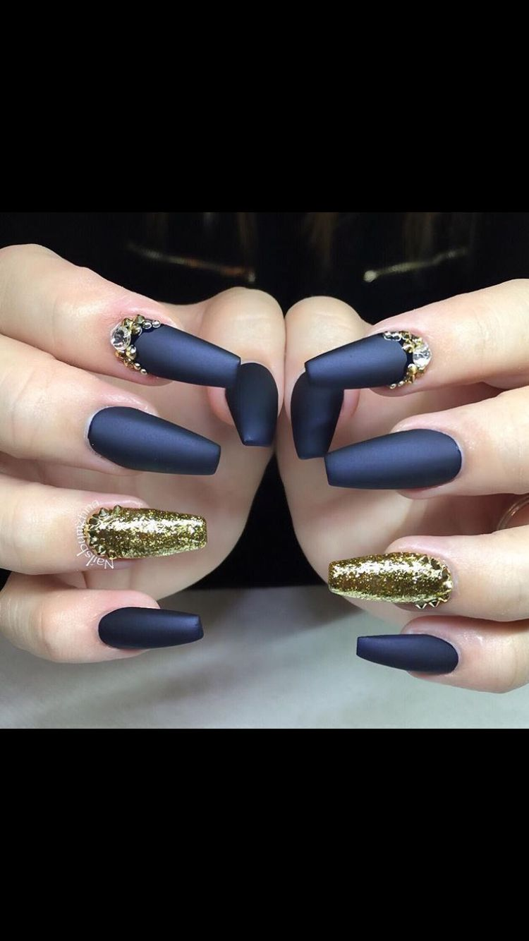 dark blue matte | nails | pinterest | dark blue, dark and make up