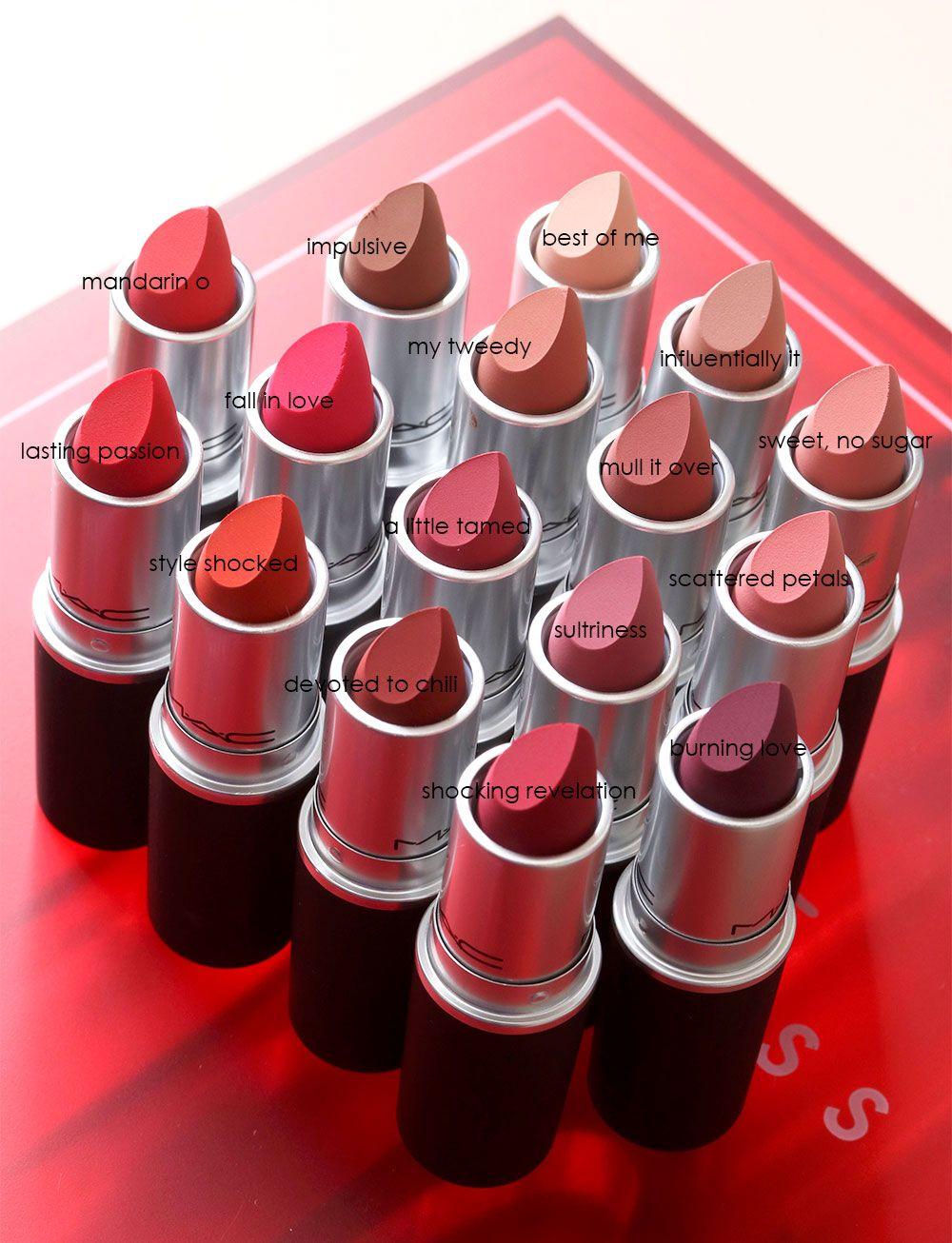 mac powder kiss lipsticks Mac cosmetics lipstick, Mac powder