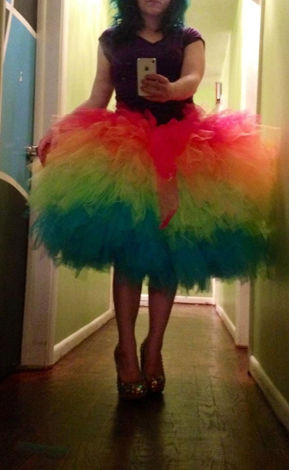 8499a9fb14 Junior's Women's Misses Rainbow Tutu Cocktail Fluffy Formal Prom Skirt - now  available in my etsy shop!