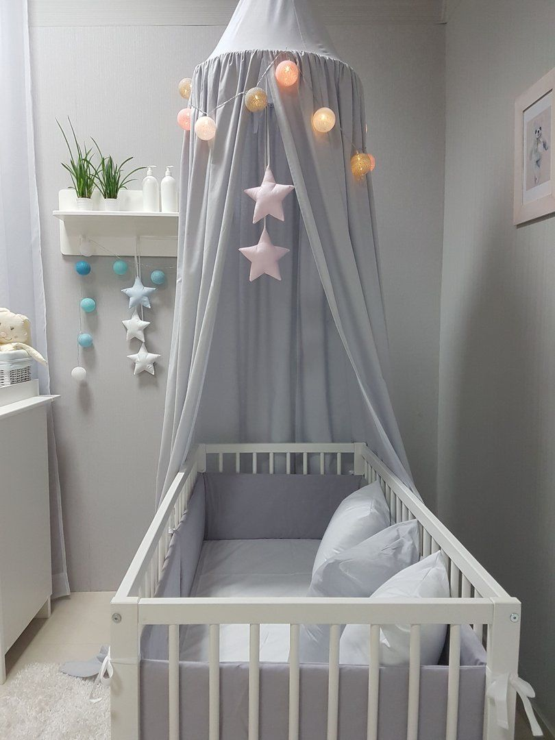Babymajawelt® Betthimmel Baldachin Grau XXL Stars   Kinderzimmer Zelt Zum  Aufhängen, Kinder