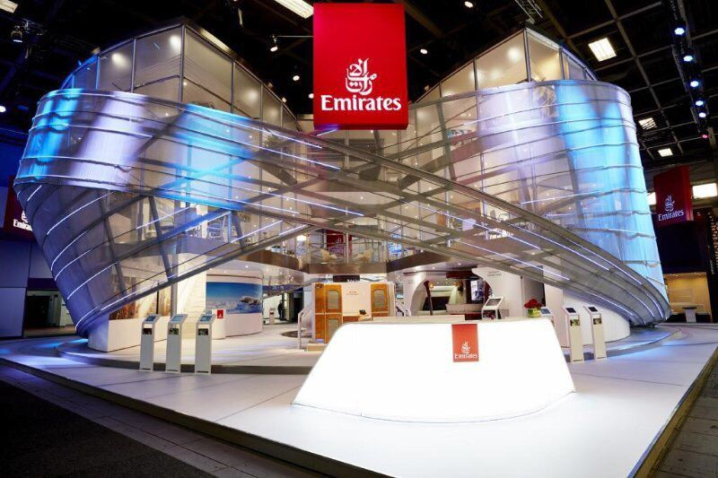 Ideas For Expo Stands : Emirates airlines booth design exhibition