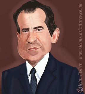 Richard Nixon By Cartoonman Richard Nixon Caricature Funny Faces