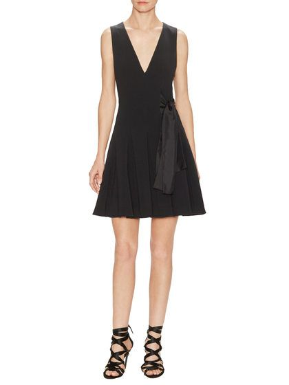 V-Neck Side Bow Flared Dress by Thakoon at Gilt