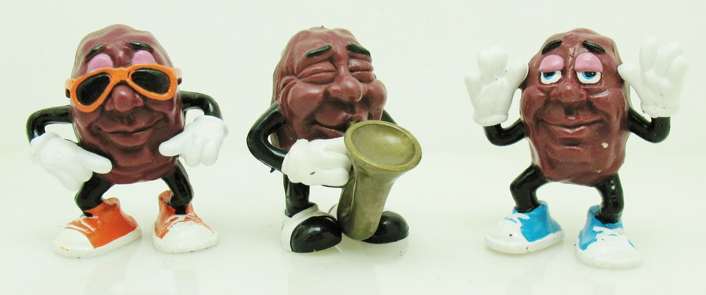 Lot 3 Vtg California Raisins Toy Figurines 1987 Retro Collectible Figures | eBay