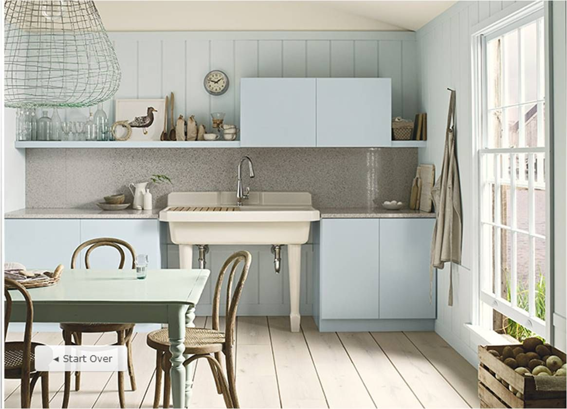 "Benjamin Moore ""Breath of Fresh Air"" kitchen Eclectic"