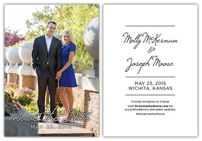 SAVE THE DATE CARD   Designer: Chris M. Moore   Client: Molly McKernan   CS&S GRAPHICS   #css #graphics #graphicdesign #card
