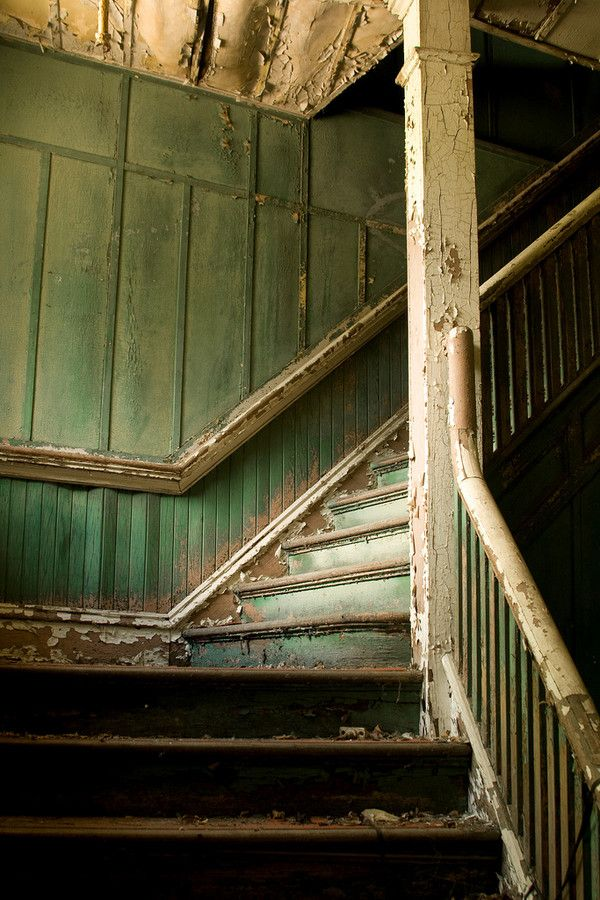 """""""Stairs to the second floor of the abandoned """"Battery Factory"""" in Niagara Falls, NY"""""""