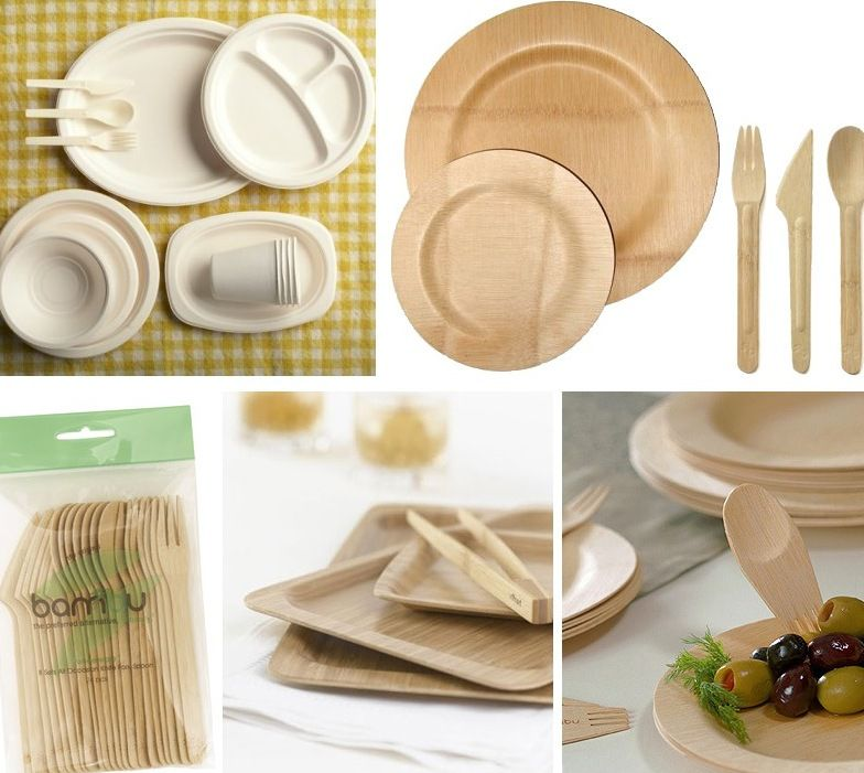 Weddingbambu and bagasse disposable dinnerware at branch   Eco friendly  . Tableware For Weddings. Home Design Ideas