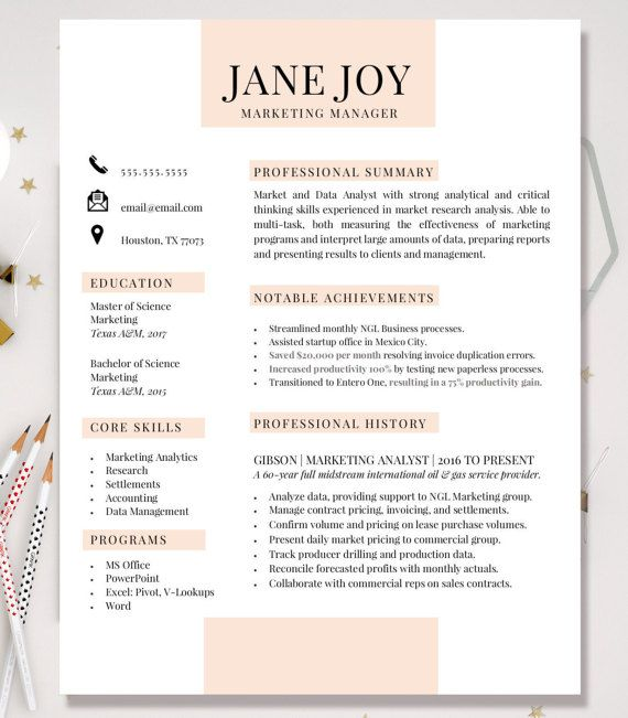 Resume Template Cover Letter Professional Resume By Mockxample