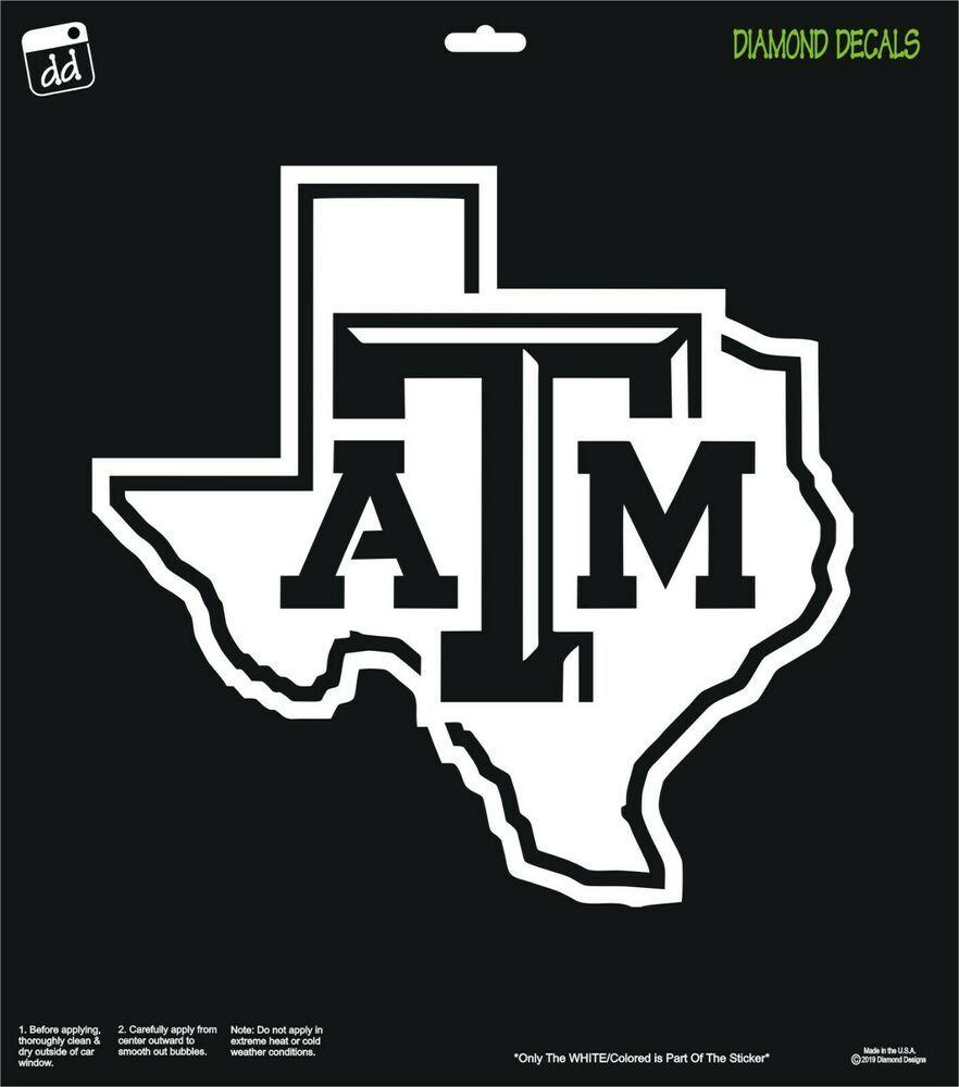 Texas A M Aggies Vinyl Decal Custom Logo Car Truck Win Sticker College Station Diamonddecalz Vinyl Decals College Station Custom Logos [ 1000 x 882 Pixel ]