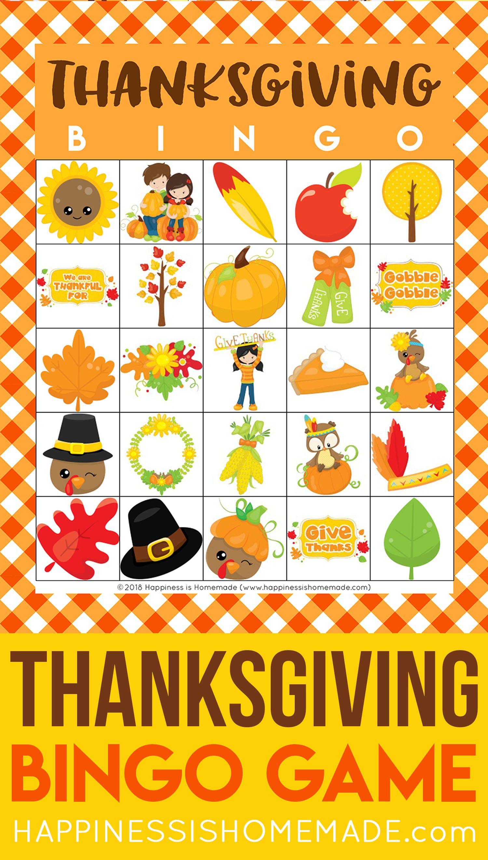 Free Printable Thanksgiving Bingo Cards This Thanksgiving Bingo Game Is A Ton Of Fun For K Thanksgiving Bingo Thanksgiving Bingo Cards Thanksgiving Printables
