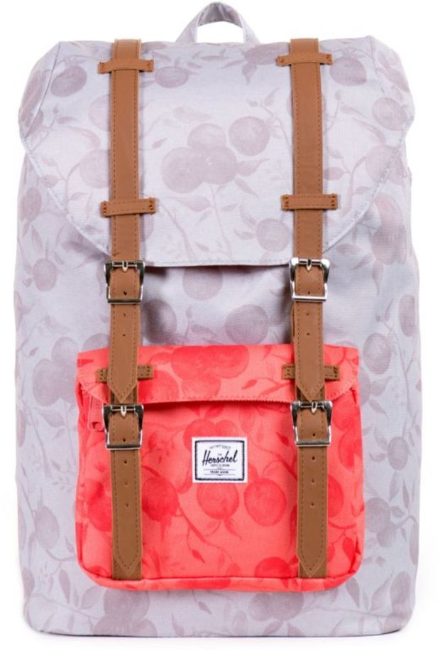 Herschel Supply Little America Grey   Red Orchard 14.5L Backpack ... 491604b7f7494