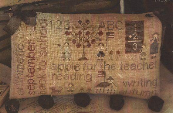 Primitive Folk Art Cross Stitch Pattern  WORD by PrimFolkArtShop...