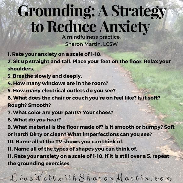 Reduce Anxiety by Grounding Yourself - Live Well with Sharon Martin
