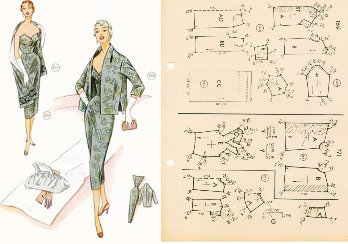 Платье с пиджаком.   Patrones de costura   Pinterest