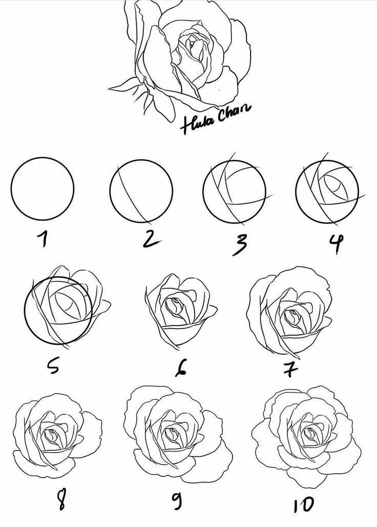 Einfach rosen malen Acryl Blumen