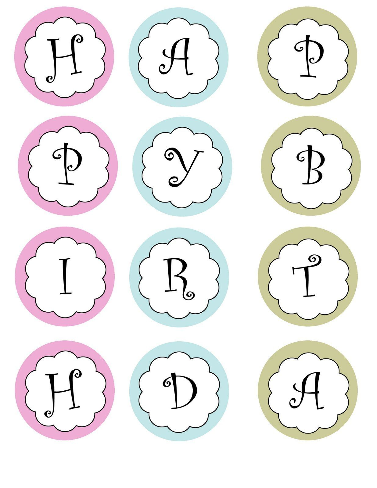 Free Printable Happy Birthday Banner Templates Theveliger With Free Printab Birthday Banner Free Printable Printable Banner Template Birthday Banner Template