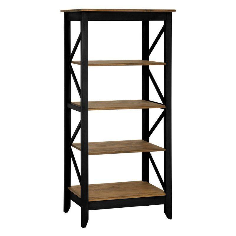 Pinard Etagere Bookcase Wood Bookcase Etagere Bookcase Bookcase