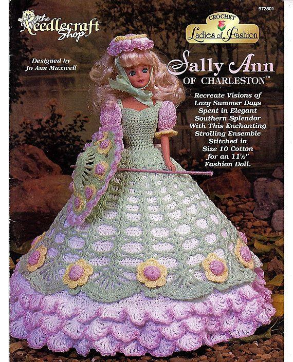 Damen Mode Sally Ann von Charleston Modepuppe Häkelanleitung ...