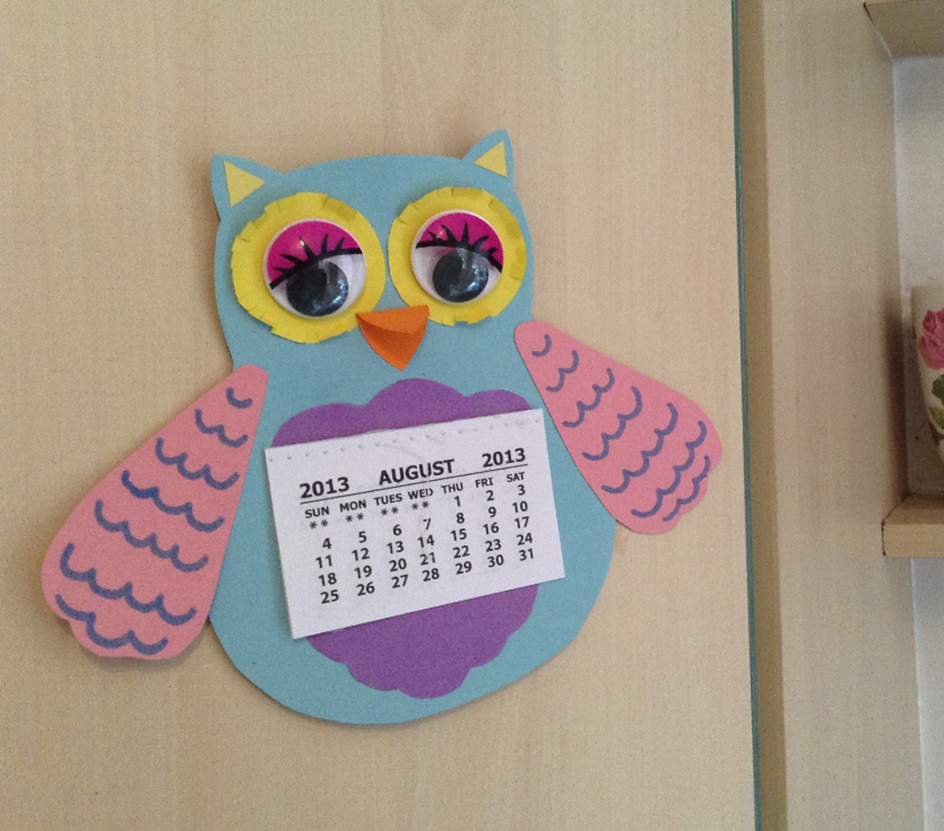Calendar Craft Ideas Ks : Christina marshall made a kitchen calendar cheerful and