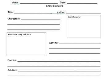 Printables Identifying Story Elements Worksheet identifying story elements worksheet versaldobip versaldobip