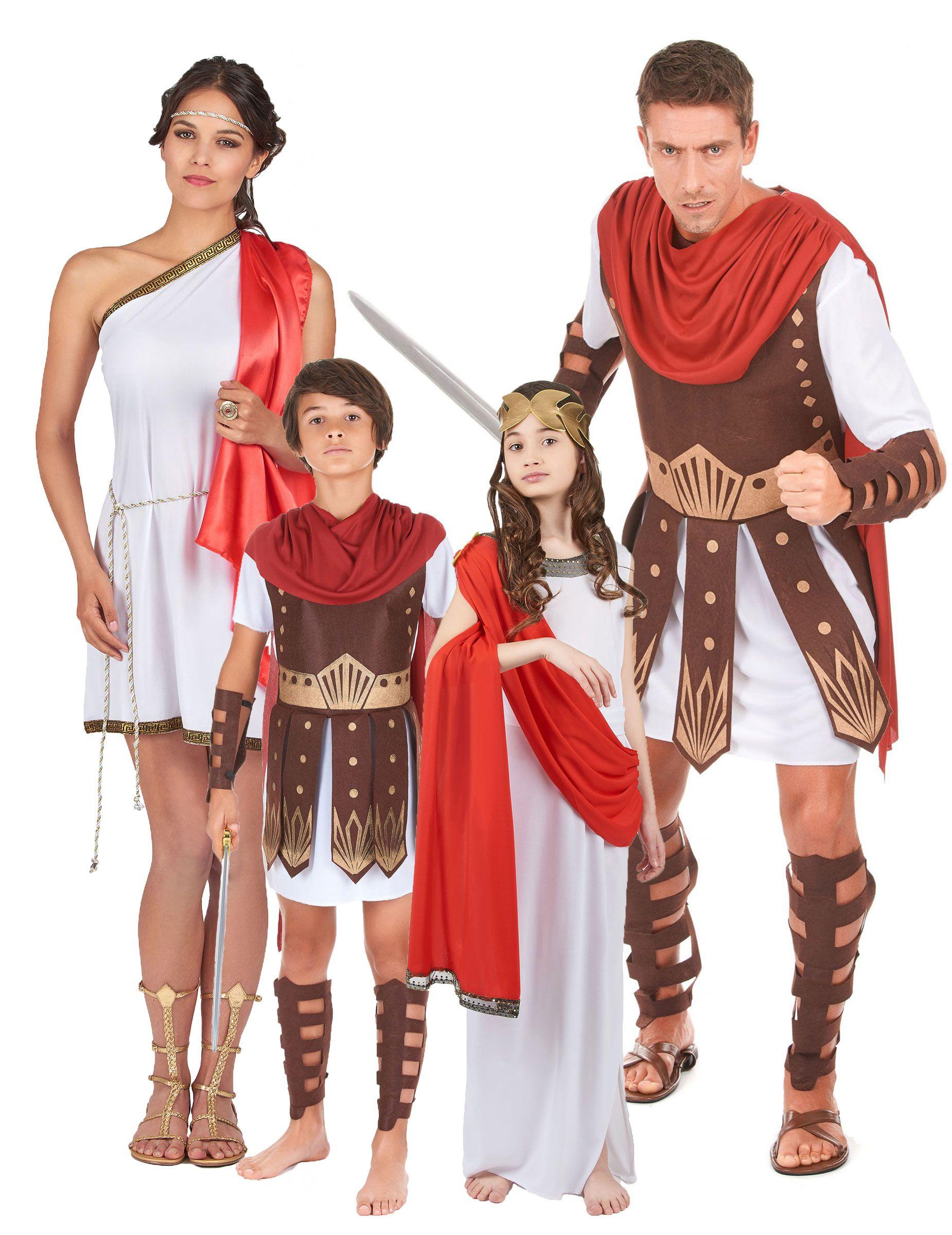 Disfraz familia Roma Antigua  Disfraz centurión romano niñoEste disfraz de  centurión romano para niño incluye túnica blanca de manga corta 3a9d16cae8ce