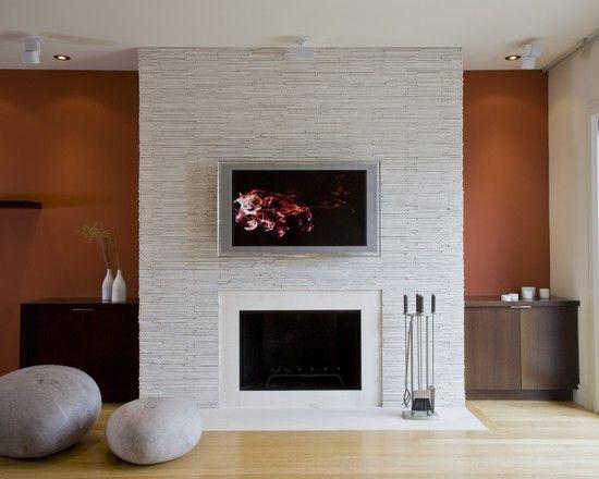 Modern Tile On Chimney Modern Living Room 1970 Living Room Design