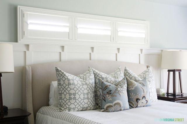 Sherwin Williams Sea Salt Master Bedroom Life On Virginia Street Wainscoting Styles Master Bedroom Paint Bedroom Decor