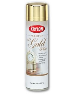 Read you can refinish gold plated costume jewelry with Krylon 18k