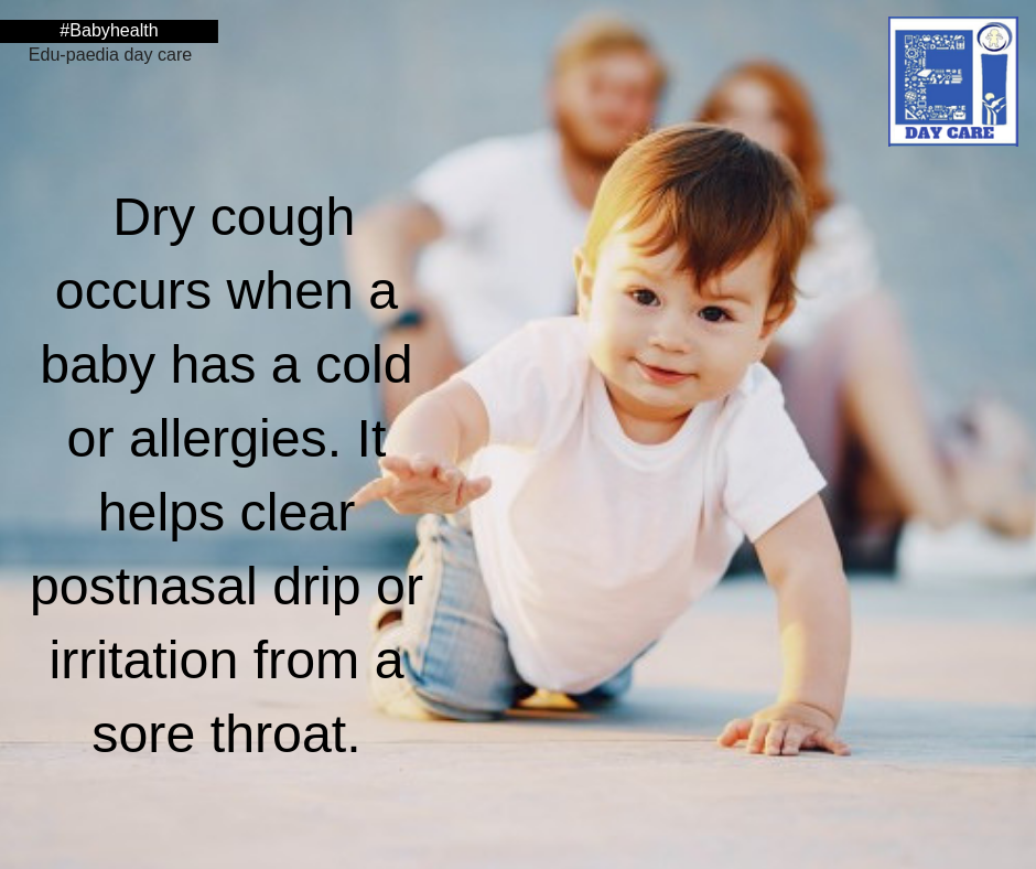 Dry cough helps clear irritation from sore throat.